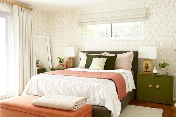 Sau khi cải tạo, phòng ngủ trở nên tươi mới và đầy sức sống.