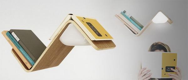 LiliLite là sự kết hợp của giá sách, đèn đọc sách và vật dụng đánh dấu sách trong một thiết bị.