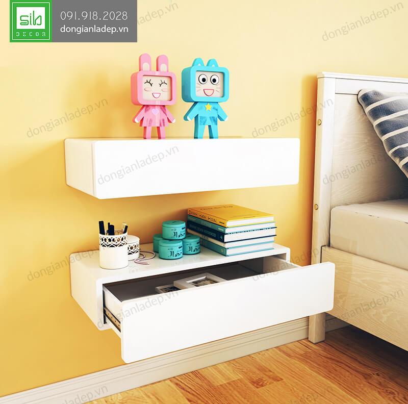 Kệ treo tường trong phòng ngủ