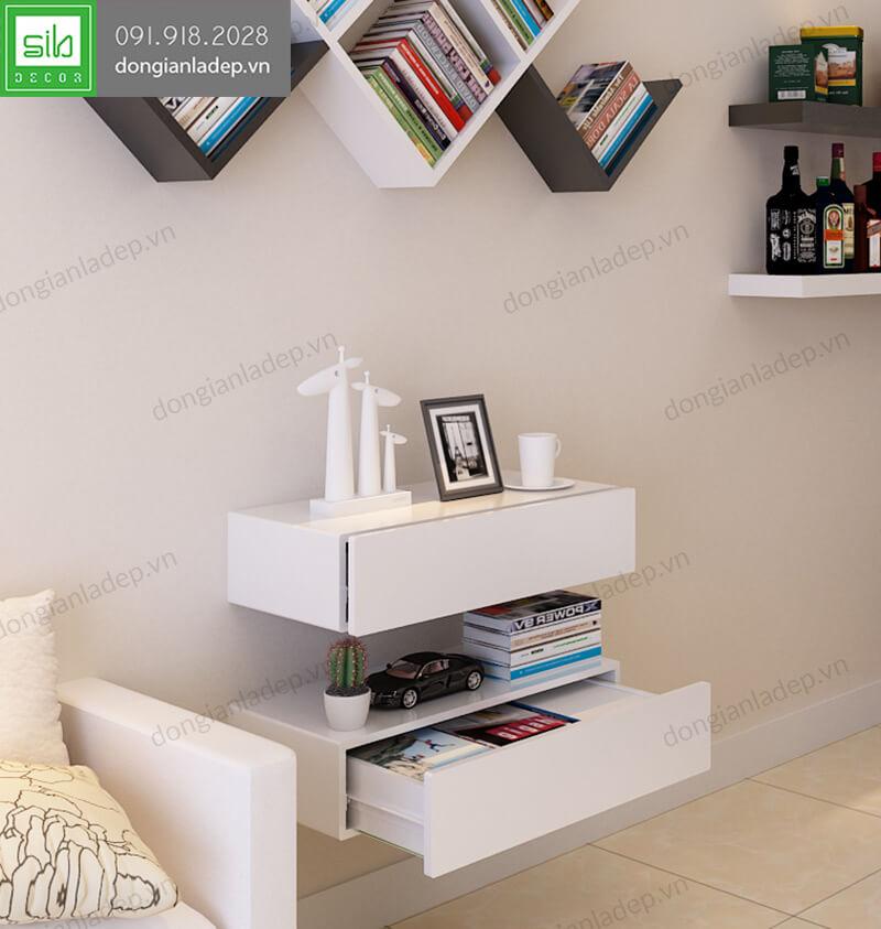 Kệ treo tường có ngăn kéo để được rất nhiều sách