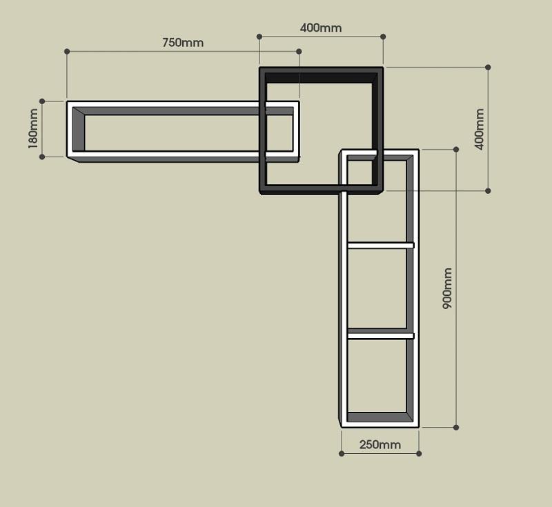 Kích thước kệ tivi treo tường BST69