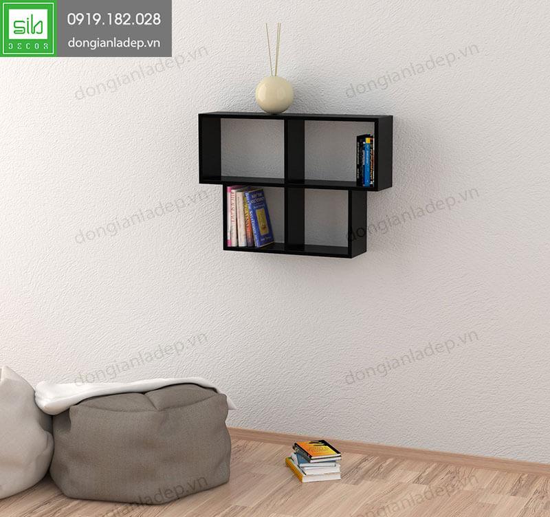 Kệ sách treo tường KT169 màu đen