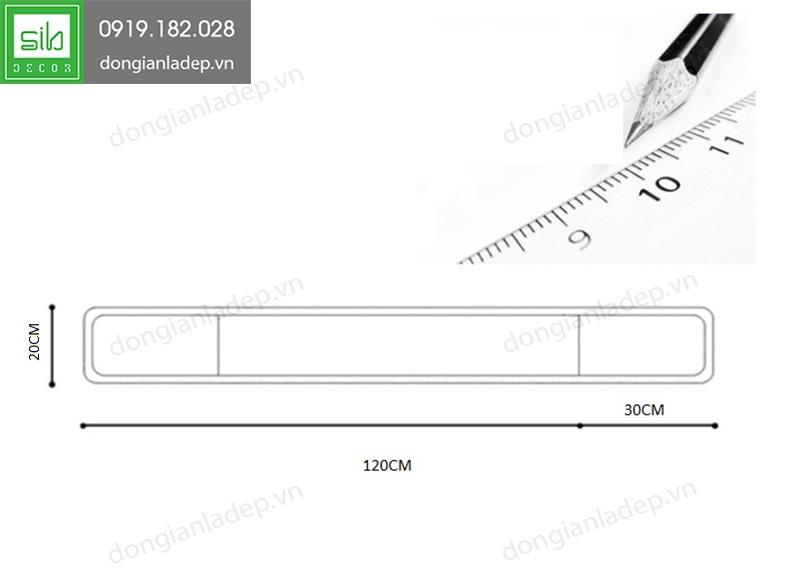 Kích thước của kệ tivi TV104