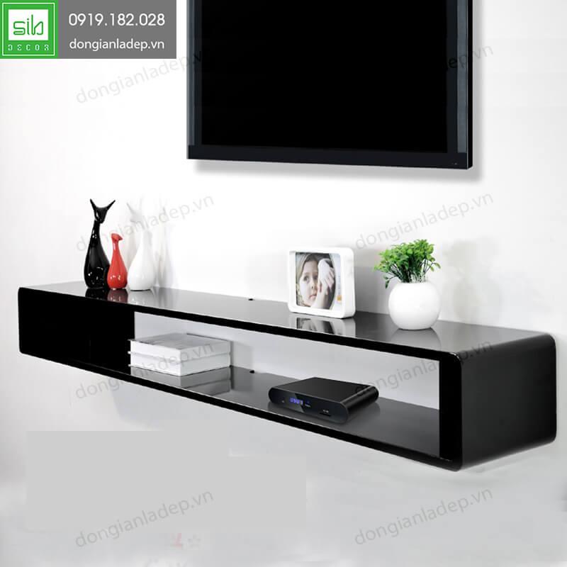 Kệ tivi treo tường TV104 màu đen sang trọng