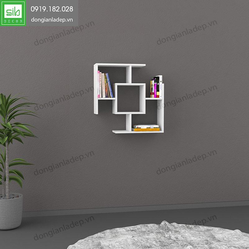 Kệ treo tường KT144 màu trắng