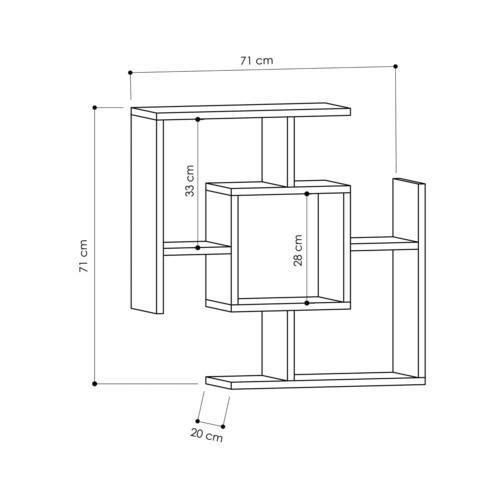 Kích thước kệ sách treo tường KTT-144
