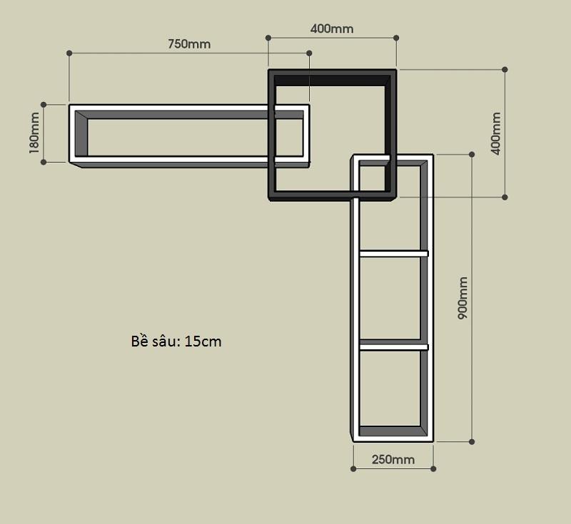 Kích thước chi tiết khối chữ L
