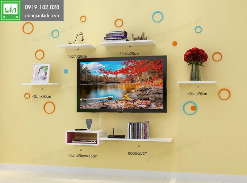 Kệ tivi treo tường đẹp cho phòng khách BST41