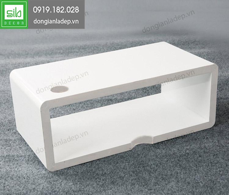 kệ tivi chữ nhật 40x20x15cm màu trắng