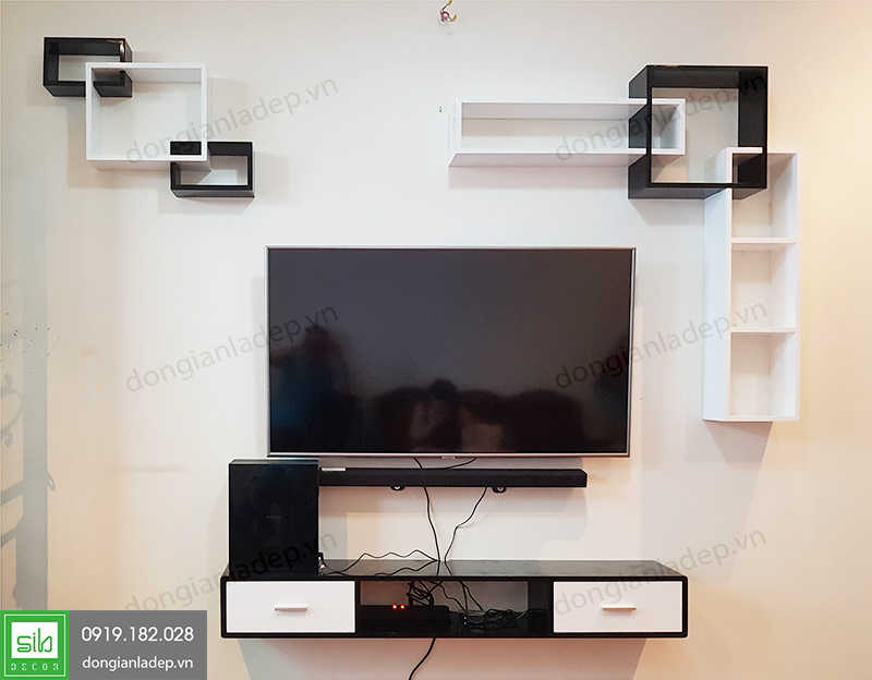 Sự đơn giản, hiện đại và tinh tế của bộ kệ tivi treo tường BST76