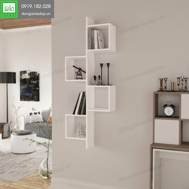"""Kệ treo tường màu trắng """" đơn giản mà đẹp"""""""