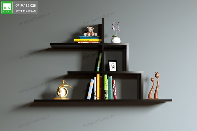 Kệ gỗ STEP by STEP màu đen