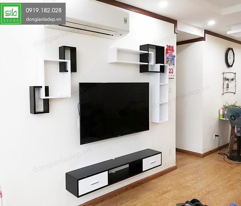 Một thiết kế cho nhiều phong cách trang trí với kệ tivi treo tường BST76