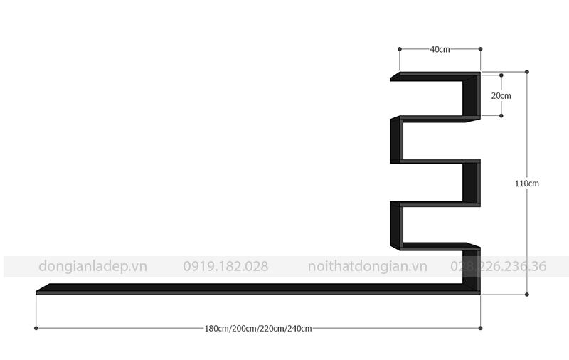 Kích thước kệ tivi TV130