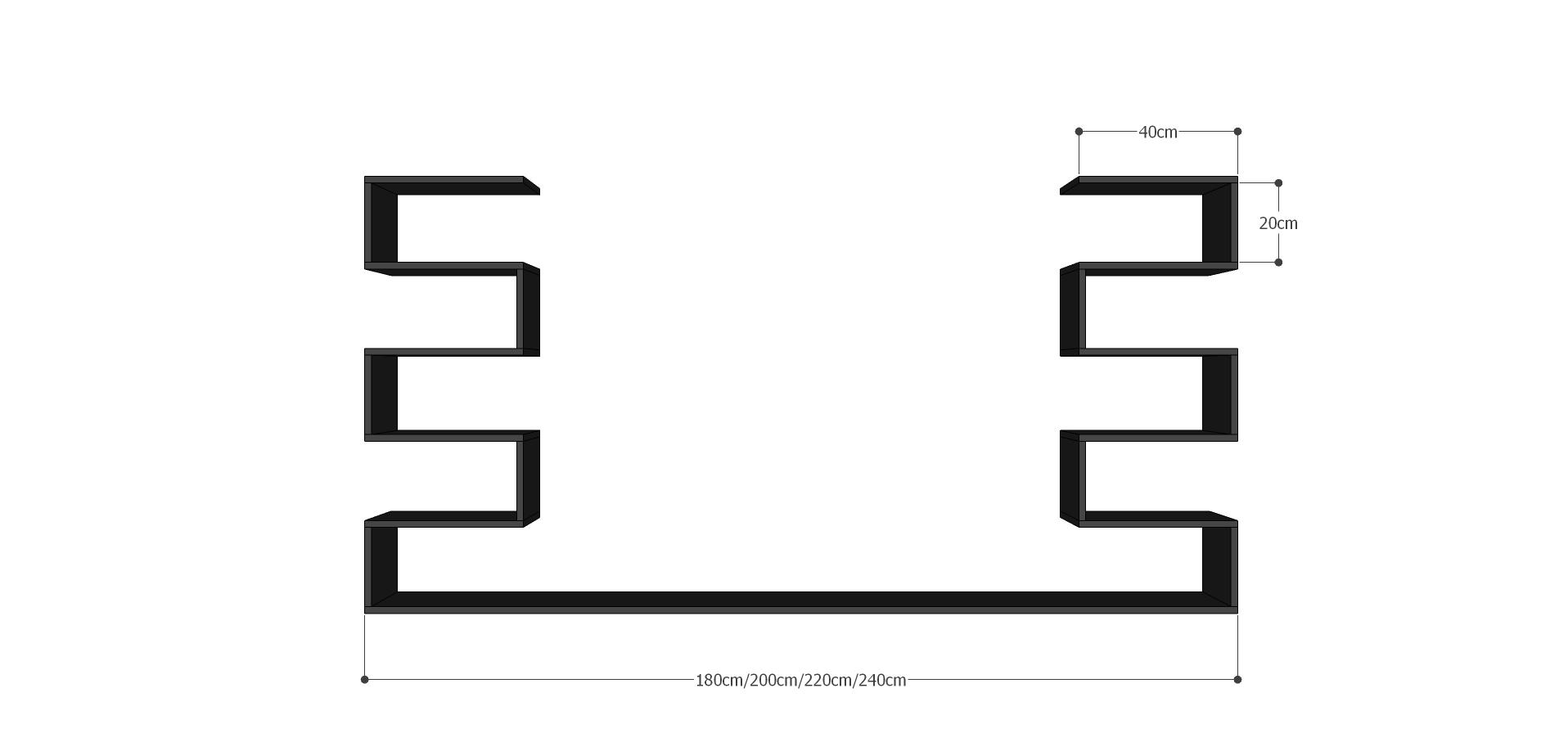 Kích thước chi tiết của kệ TV128