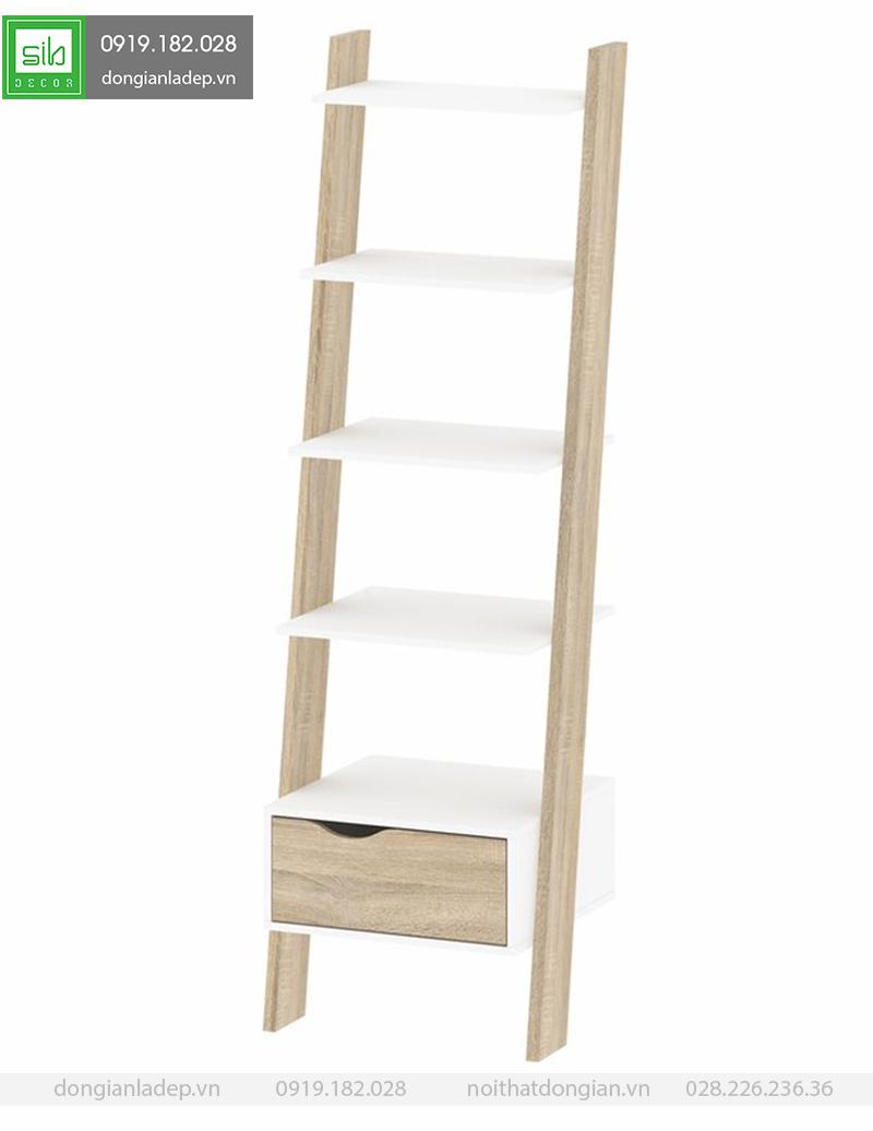 Đơn giản và sang trọng, chiếc kệ gỗ tạo điểm nhấn nổi bật cho không gian