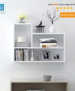 Kệ sách treo tường KT181 màu trắng