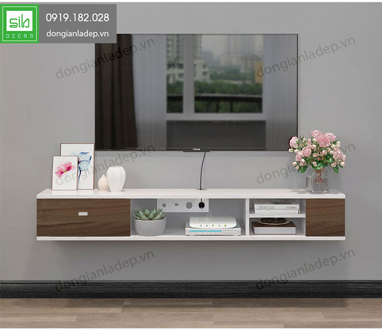 Đơn giản và sang trọng, kệ tivi treo tường có thiết kế tối ưu cho các công năng sử dụng