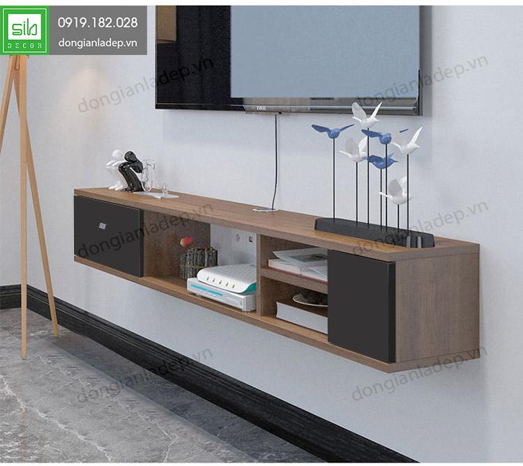 Kệ gỗ thiết kế nhiều ngăn khoa học, đẹp và cân đối