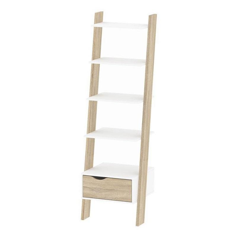 Kệ gỗ bậc thang nhiều tầng làm tăng diện tích sử dụng và độ linh hoạt cho các phòng Dorm.
