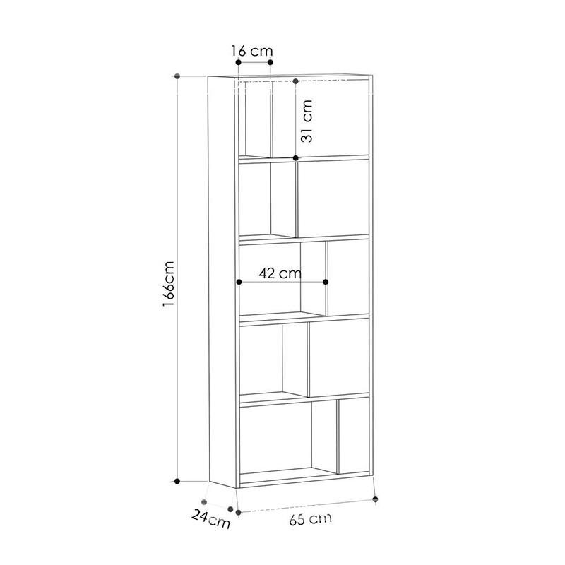 Kích thước tủ sách KS034