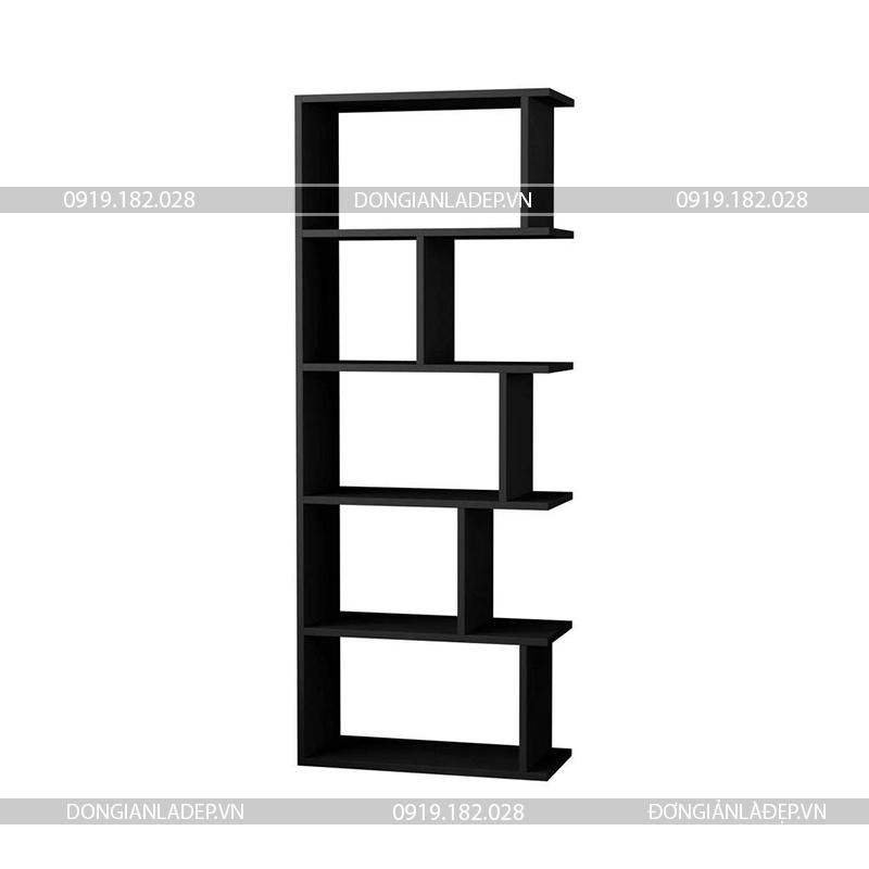 Kệ gỗ màu đen hiện đại