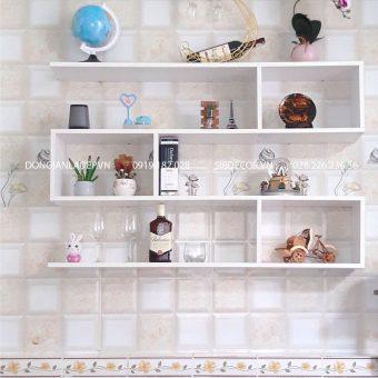 Kệ sách treo tường màu trắng 3 tầng KT206T