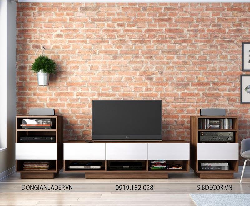 Bộ kệ tivi TV118 và 02 kệ nhỏ