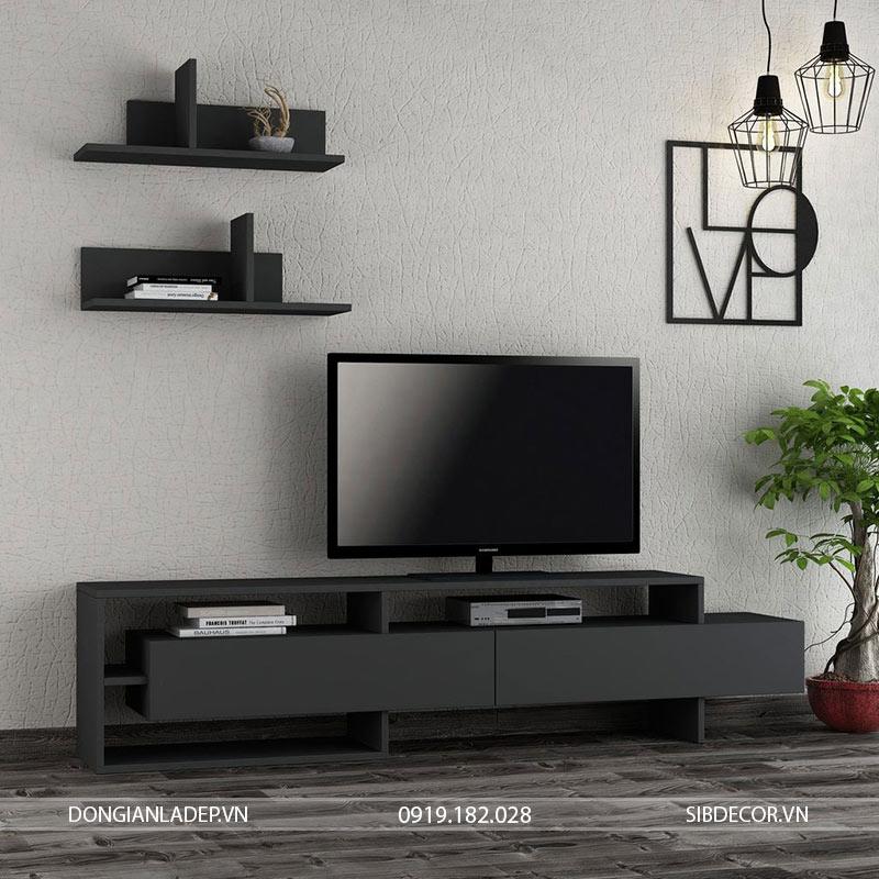 Kệ tivi TV13 màu đen melamine sang trọng