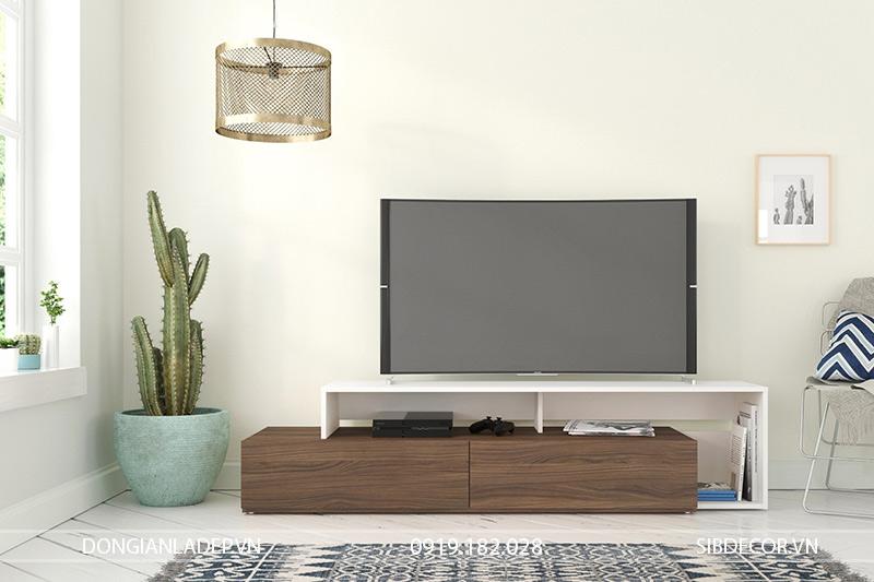 Phòng khách sang trọng, hiện đại với kệ tivi TV22