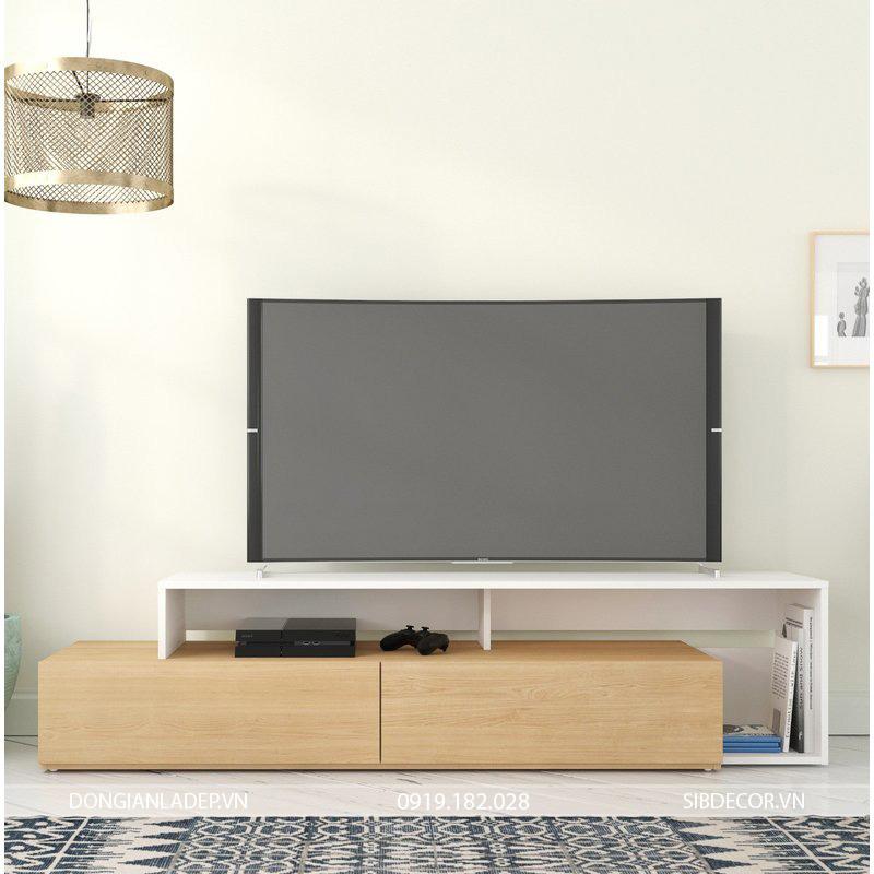 Kệ tivi thiết kế thuận tiện đi dây cho đầu đĩa DVD, Amply, đầu thu kỹ thuật số và các thiết bị công nghệ.
