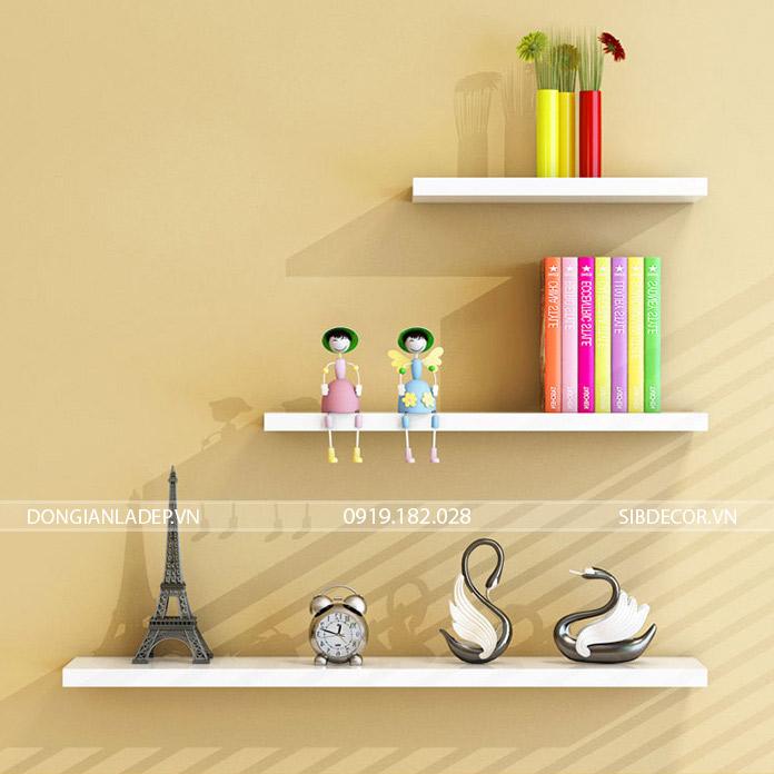 Kệ gỗ để sách, đồ trang trí