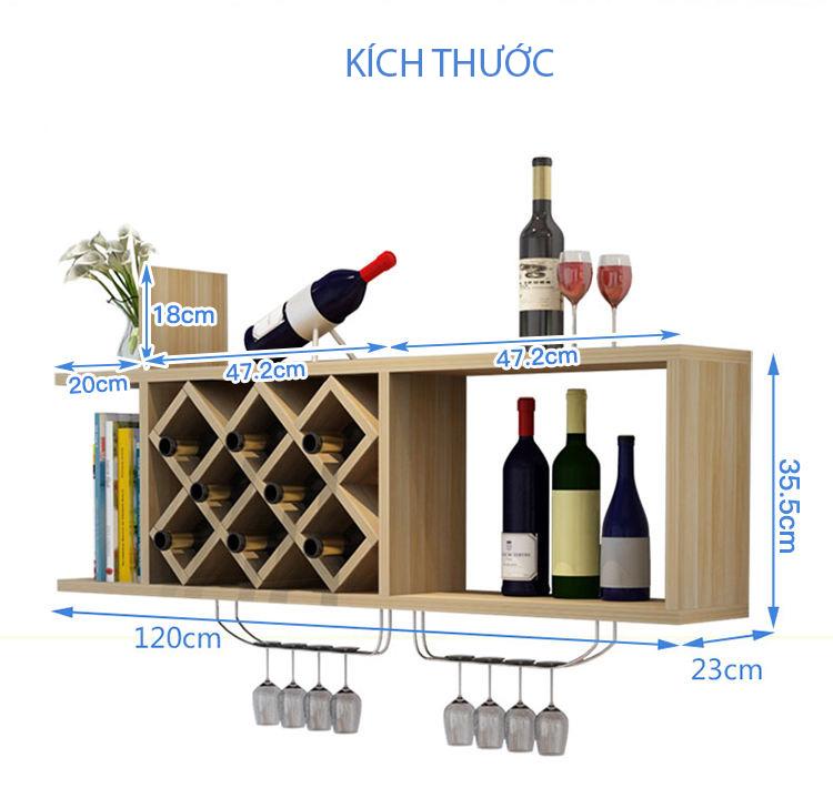 Kích thước kệ rượu KR10