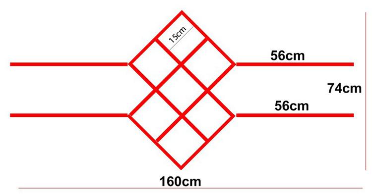 Kích thước kệ rượu treo tường KR09: 120x74x23cm