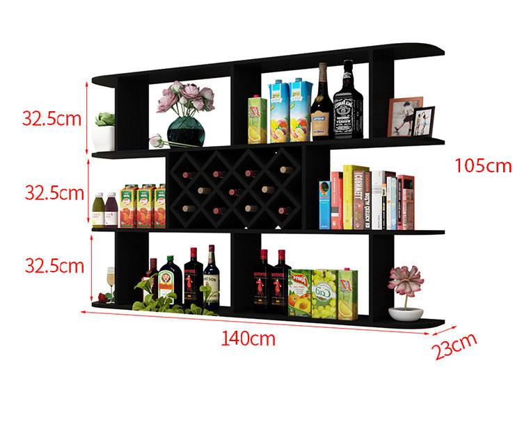 Kích thước kệ rượu treo tường KT08