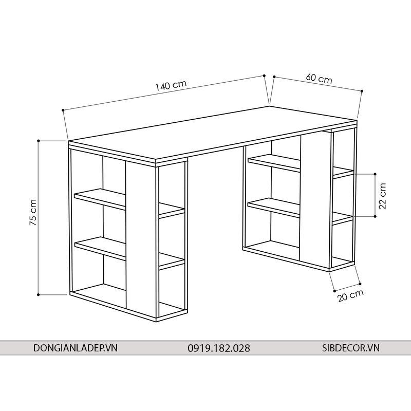 Kích thước bàn làm việc BLV48