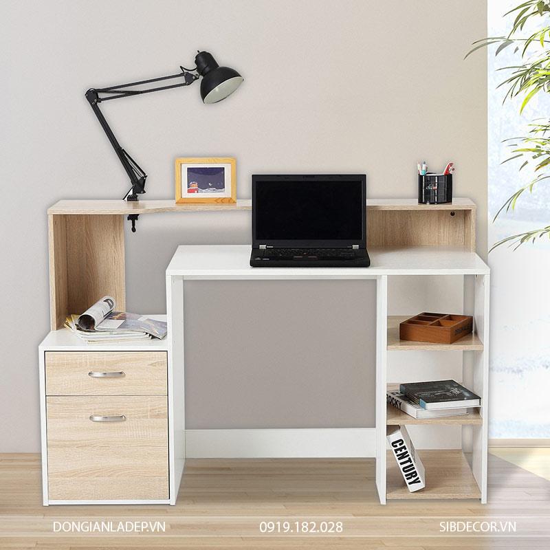 Bàn làm việc đơn giản và đẹp với sự kết hợp khéo léo trong thiết kế