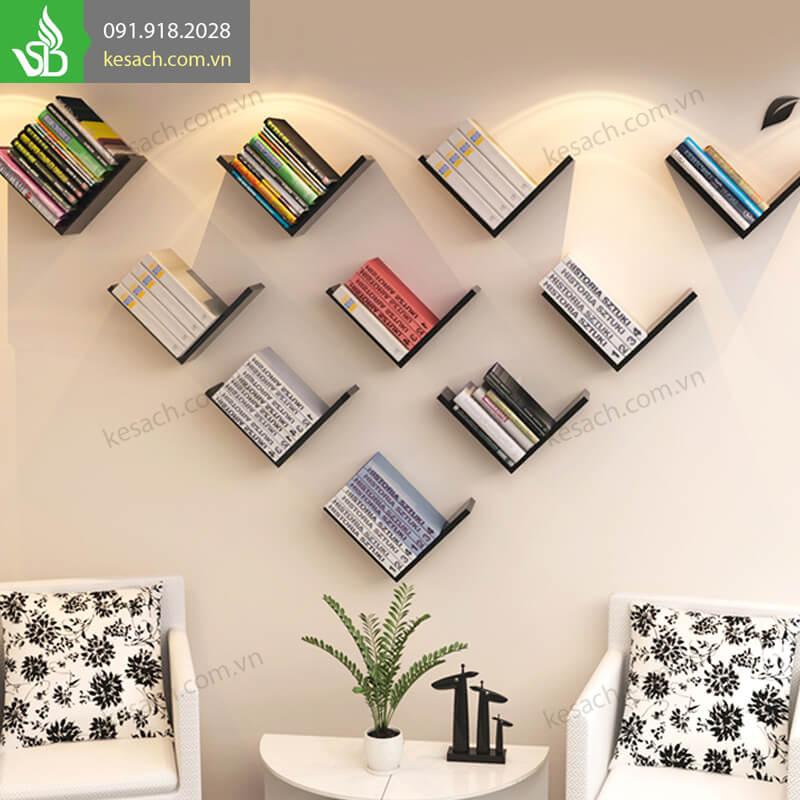 10 kệ sách treo tường chữ V tạo nên bức tường đẹp lung linh!