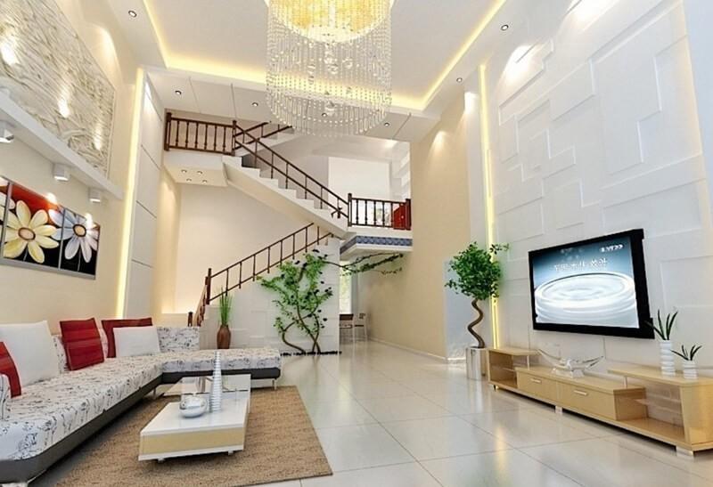 Bộ Sofa chân thấp tạo không gian rộng rãi cho phòng khách