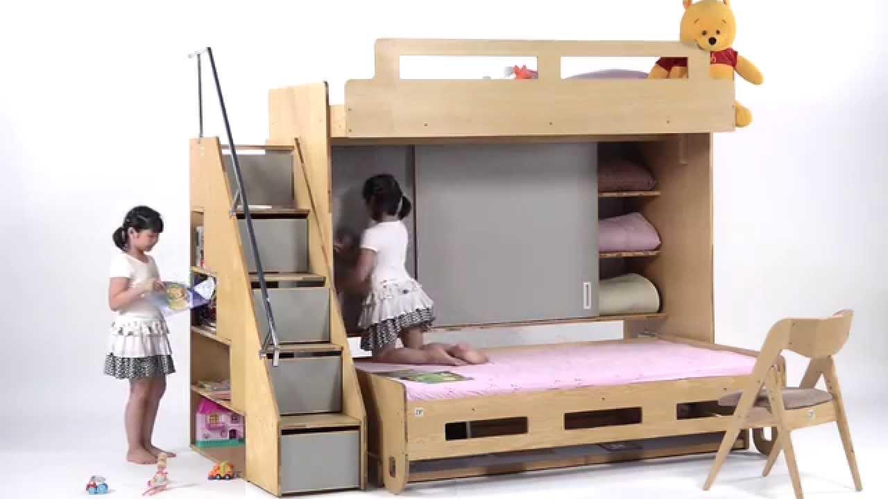 Giường xếp hữu ích dành cho cách bé