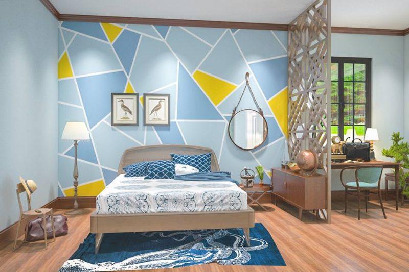 Các sơn tường nhà độc đáo với nhiều mảng màu sắc