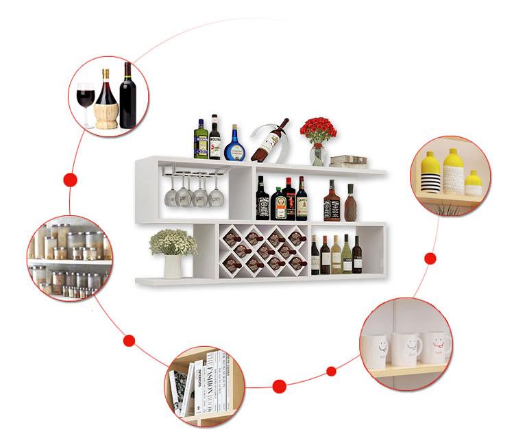 Rất nhiều ứng dụng của kệ rượu treo tường