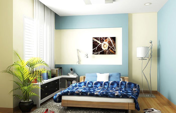 Mát mẻ với màu xanh biển trong phòng ngủ