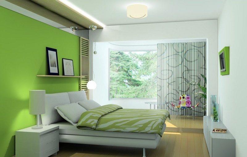Trầm ấm cùng màu sơn xanh lá cho phòng ngủ