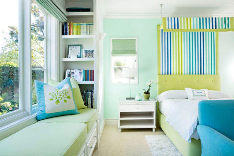 Năng động, tràn đầy sức sống với tường màu xanh