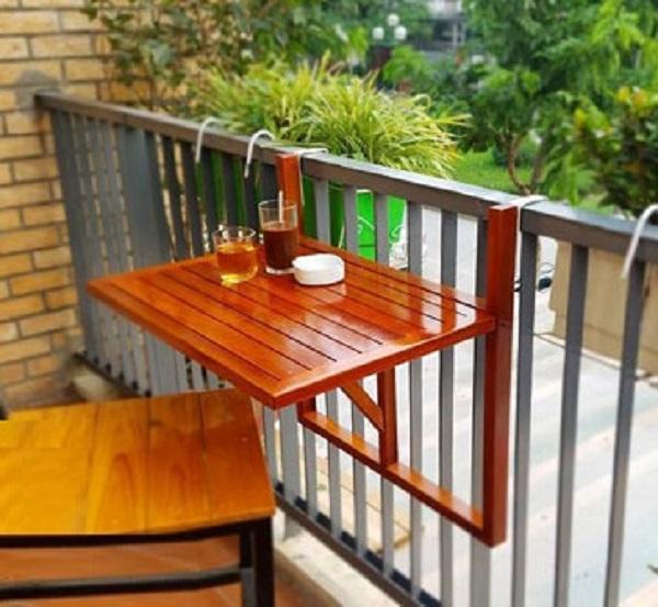 Góc thư giãn từ diện tích nhỏ không thành vấn đề nhờ bàn treo ban công