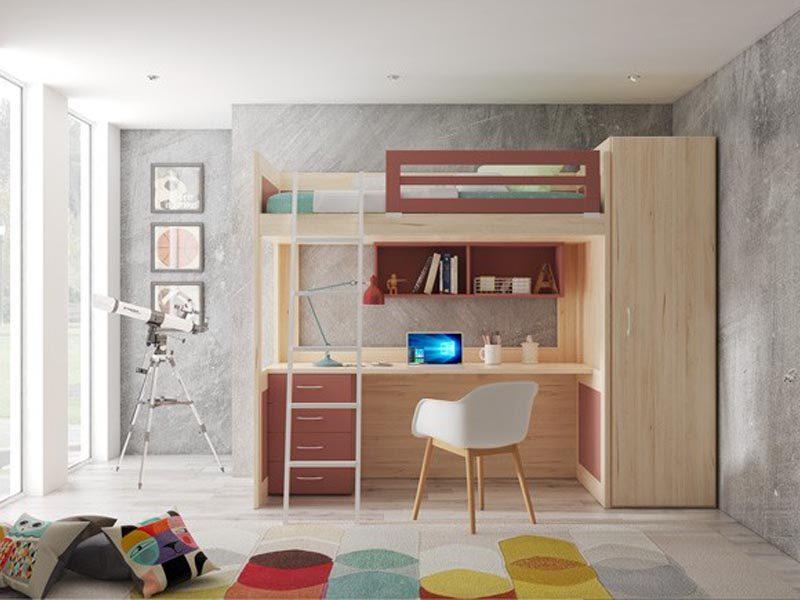 Giường tầng kết hợp bàn học - đồ nội thất thông minh