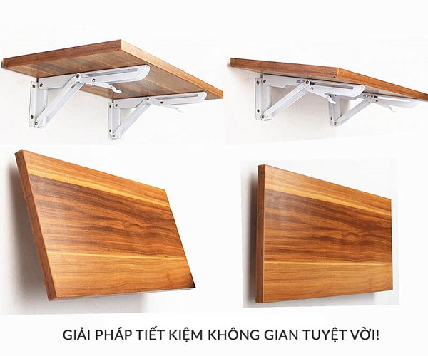 Mẫu bàn có thể gấp gọn giúp tiết kiệm diện tích