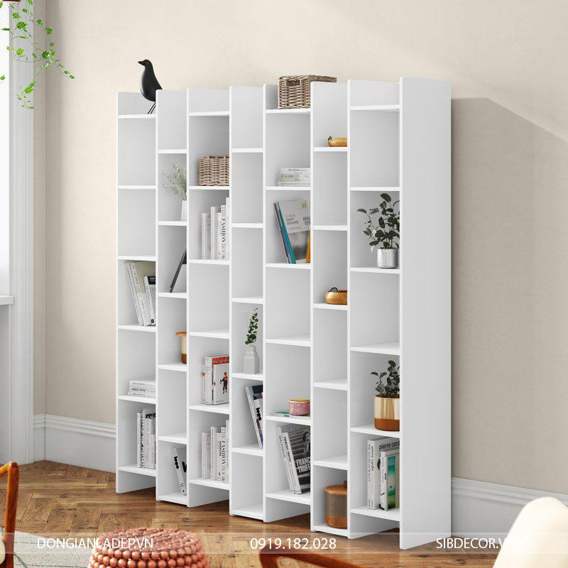 Tủ sách KS296 siêu lớn thích hợp cho căn phòng có diện tích lớn hoặc chủ nhân có rất nhiều sách.
