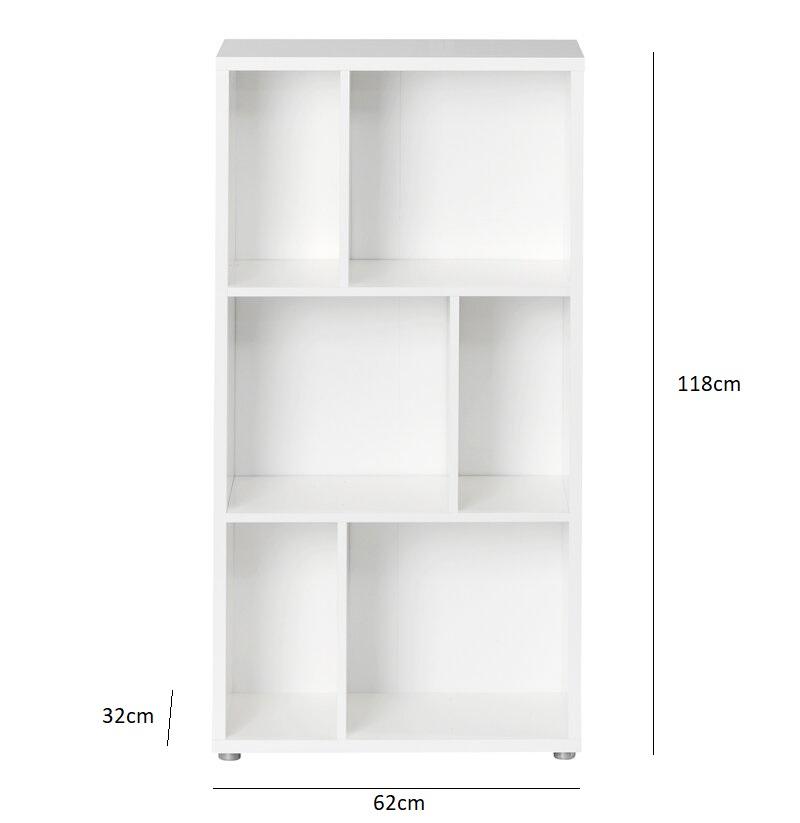 Kích thước tủ sách đơn giản KS295